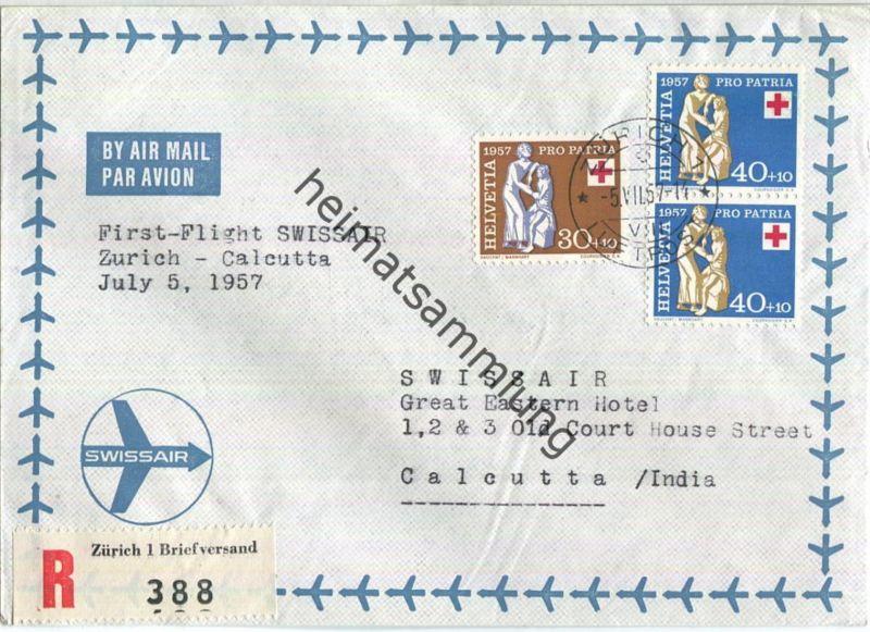 Swissair - First Flight - Zürich-Calcutta 1957