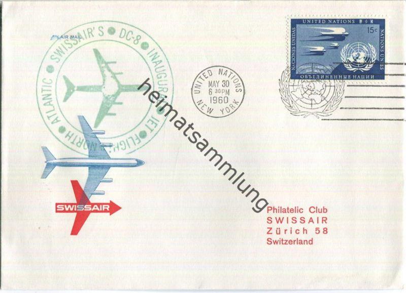 Swissair - First Jet Flight - DC 8 - United Nations New York-Zürich 1960