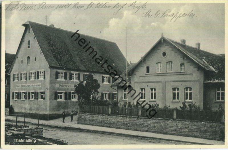 Thalmässing - Gasthaus zum Engel - Besitzer Friedrich Demelmeyer - Verlag Arthur Erdt Nürnberg