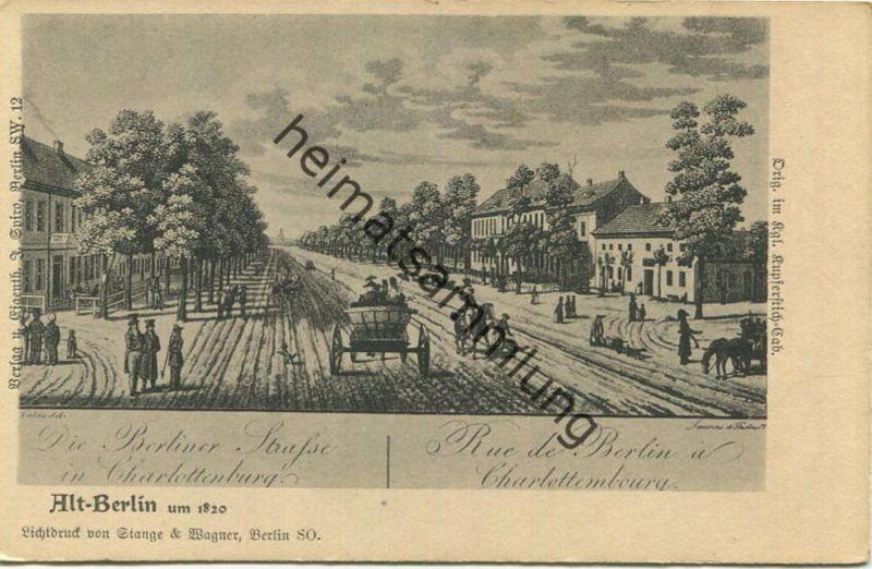 Alt-Berlin - Die Berliner Strasse in Charlottenburg - Verlag J. Spiro Berlin SW - Druck Stange & Wagner Berlin SO