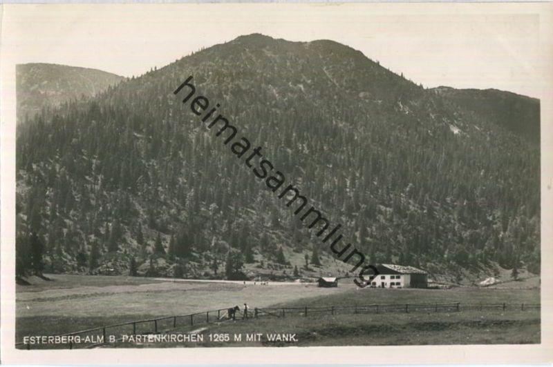 Esterberg-Alm bei Partenkirchen - Wank - Foto-Ansichtskarte - Verlag Josef Porer Partenkirchen