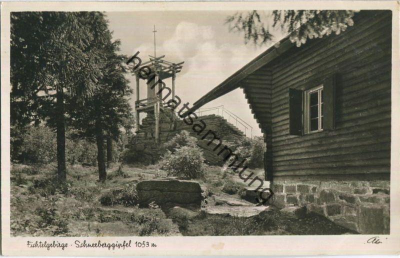 Fichtelgebirge - Schneeberggipfel - Foto-AK - Verlag Photo-Kohlbauer Pfronten