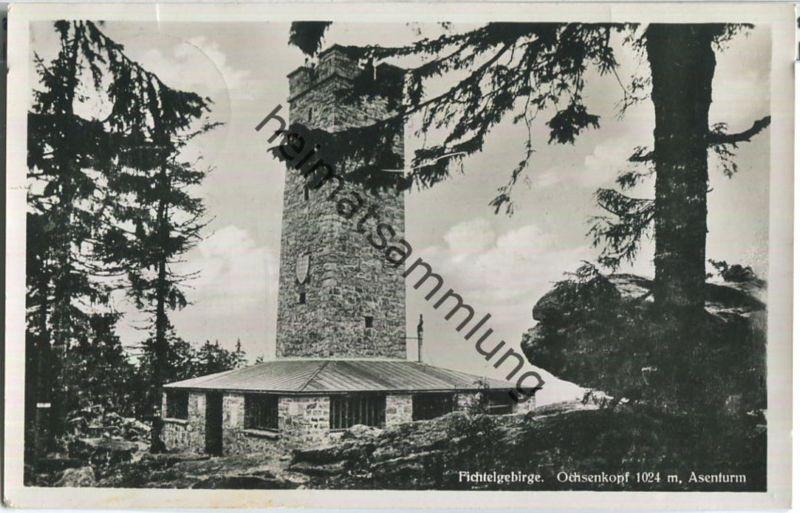 Fichtelgebirge - Ochsenkopf - Asenturm - Foto-AK - Verlag Paul Himm Bayreuth