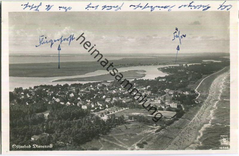 Dziwnow - Ostseebad Dievenow - Fliegeraufnahme - Foto-AK 30er Jahre - Verlag Klinke & Co. Berlin