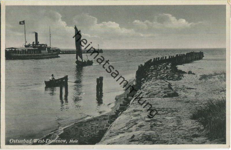 Dziwnow - Ostseebad West-Dievenow - Mole - Verlag Julius Simonsen Oldenburg