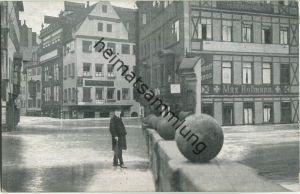 Nürnberg - Museumsbrücke Plobenhofstrasse - Hochwasser-Katastrophe 1909 - Verlag Zerreiss & Co Nürnberg