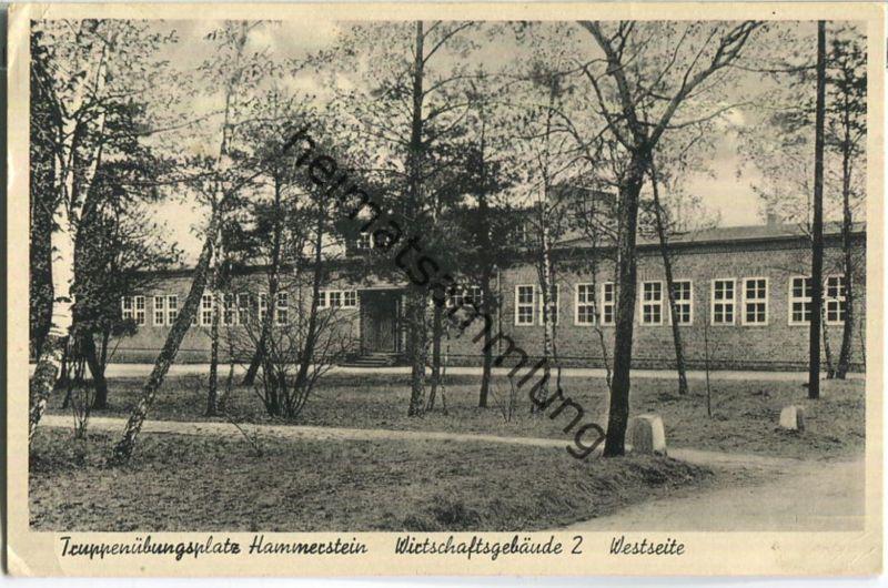 Czarne - Hammerstein Schlochau - Truppenübungsplatz Wirtschaftsgebäude 2 - Verlag Rudolf Streich Hammerstein