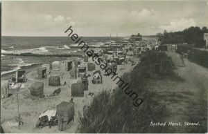 Niechorze - Seebad Horst - Strand - Foto-Ansichtskarte - Verlag Geyer & Co Breslau