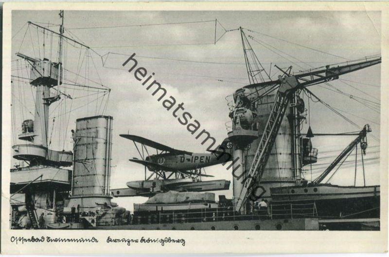 Swinemünde - Kreuzer Königsberg - Wasserflugzeug D-IPEN - Verlag Schöning & Co Lübeck