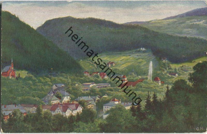 Bad Reinerz - Gesamtansicht - Künstlerkarte O. Herrfurth - Verlag Förster & Borries Zwickau