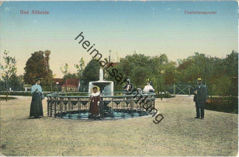 Bad Altheide - Charlottensprudel - Verlag R. Sponer Neisse 1910