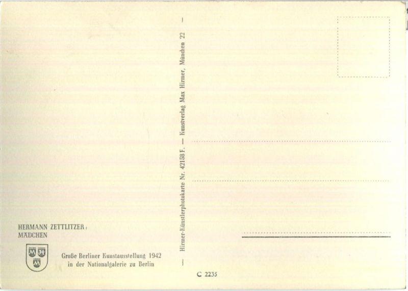 Madchen Hermann Zettlitzer Grosse Berliner Kunstausstellung 1942