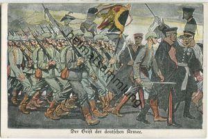 Der Geist der deutschen Armee - J. B. Hirschfeld Leipzig - Verlag der Lustigen Blätter Dr. Eysler & Co Berlin