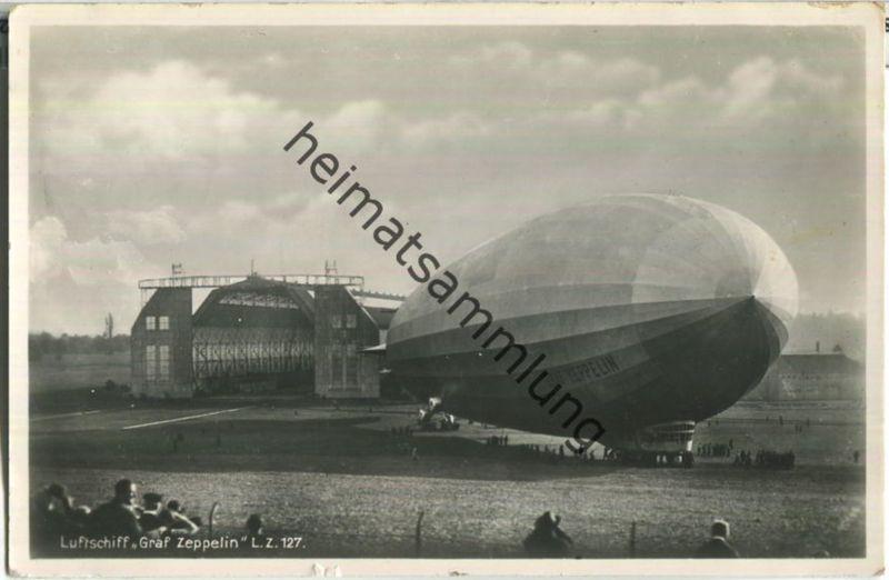 LZ 127 Graf Zeppelin - Foto-Ansichtskarte - Verlag Aubert Ulrich Ravensburg