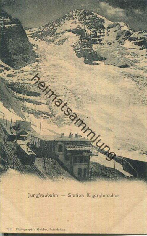 Jungfraubahn - Station Eigergletscher - Verlag Gabler Interlaken ca. 1900