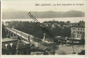 Lausanne - Le Pont Chauderon et les Alpes - Foto-Ansichtskarte - Edition D. Voumard Lausanne