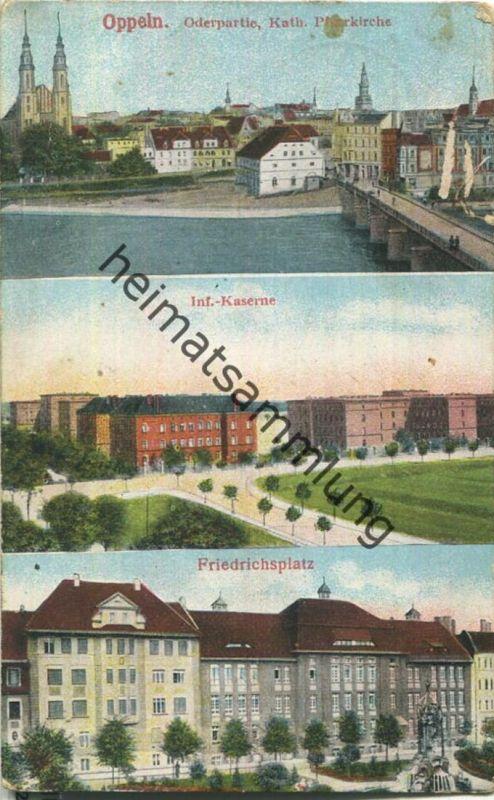 Oppeln - Kaserne - Friedrichsplatz - Feldpost - Verlag Herm. Lukowski Breslau