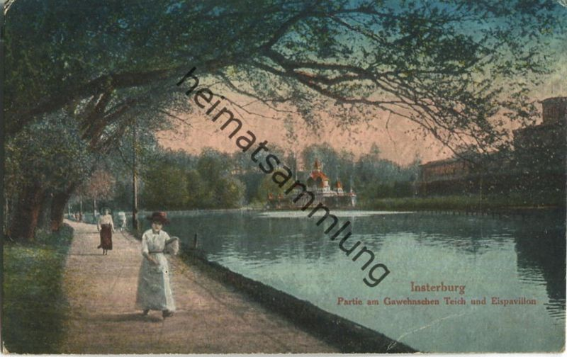 Insterburg - Tschernjachowsk - Gawehnscher Teich - Eispavillon - Verlag Georg Stilke Berlin