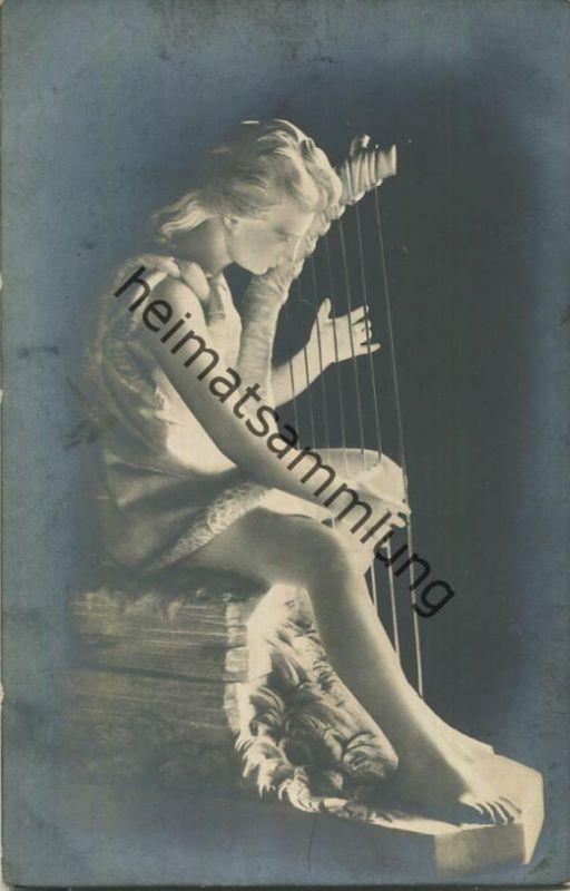 Mädchen mit Harfe - Skulptur - J. P. Molin: Necken