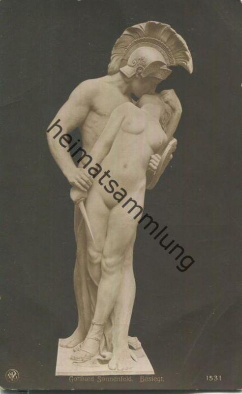 Gotthard Sonnenfeld - Besiegt - Skulptur - Verlag NPG