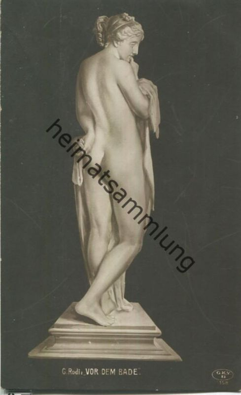 C. Rodi - Vor dem Bade - Skulptur - Verlag Graphische Kunst- u. Verlagsanstalt Berlin