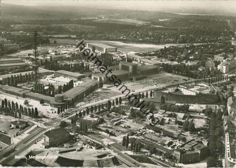 Berlin - Messegelände - Luftaufnahme - Foto-AK Grossformat