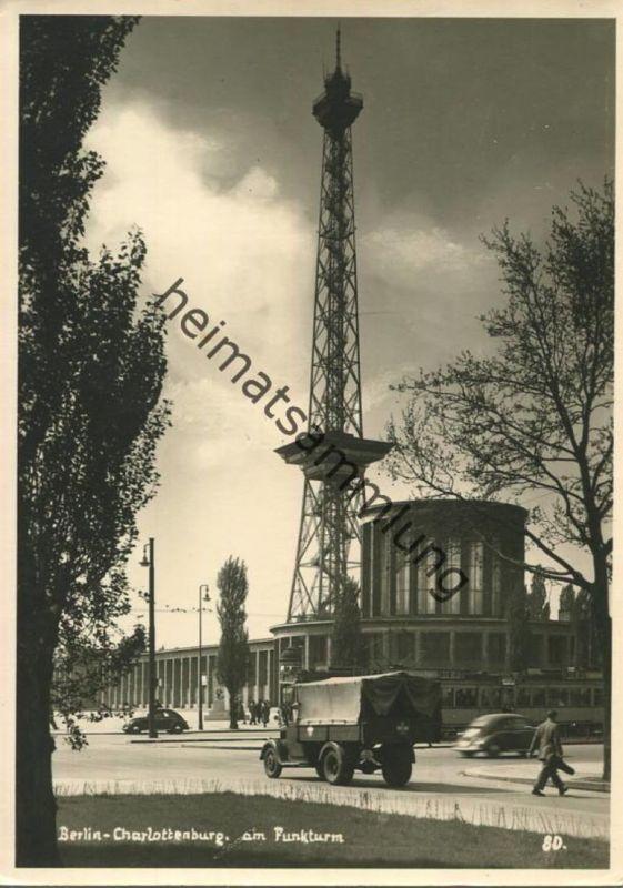 Berlin am Funkturm - Foto-AK Grossformat 50er Jahre - Verlag Photo R. Lissner Berlin