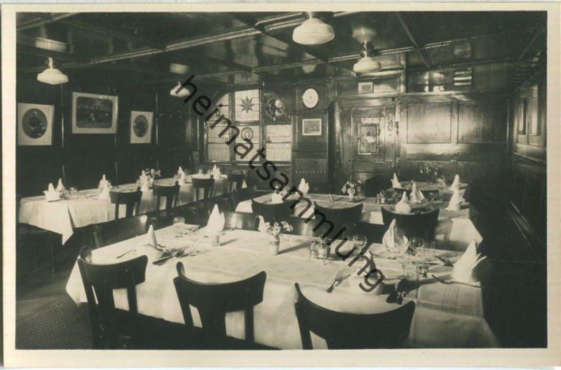 Basel - Gasthof & Restaurant zum goldenen Sternen - Aeschenvorstadt 44 - Innenansicht Foto-Ansichtskarte 30er Jahre