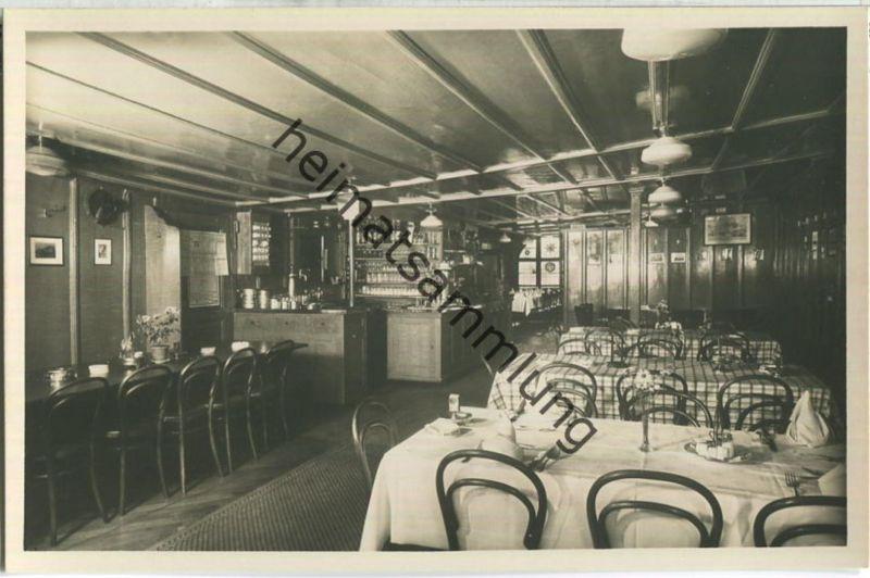 Basel - Gasthof & Restaurant zum goldenen Sternen - Aeschenvorstadt 44 - Innenansicht - Foto-Ansichtskarte 30er Jahre