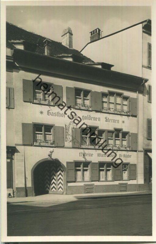 Basel - Gasthof & Restaurant zum goldenen Sternen - Aeschenvorstadt 44 - Foto-Ansichtskarte 30er Jahre