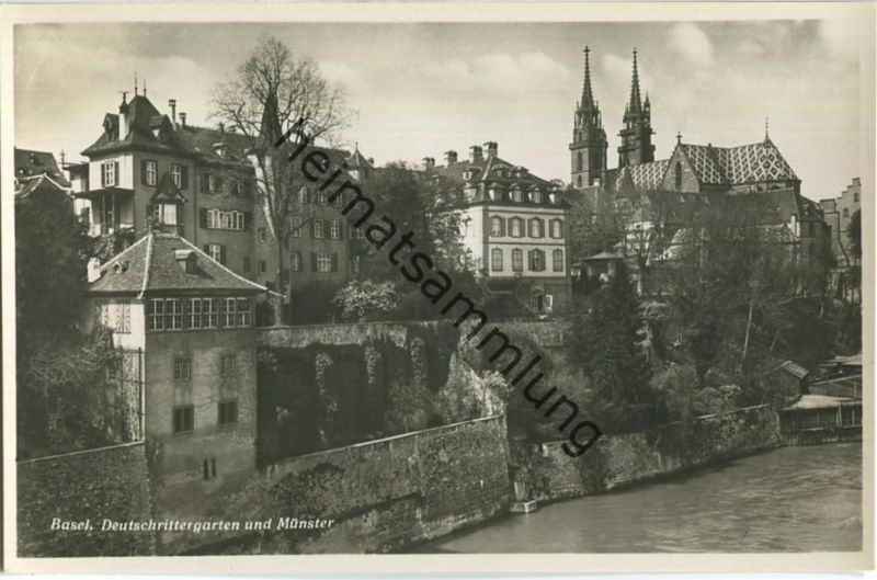 Basel - Deutschrittergarten und Münster - Foto-Ansichtskarte - Edition Photoglob-Wehrli & Vouga & Co. AG Zürich
