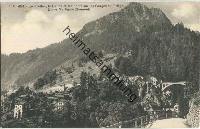 Le Tretien - la Balma et les ponts sur les Gorges du Triege - Edition Louis Burgy Lausanne