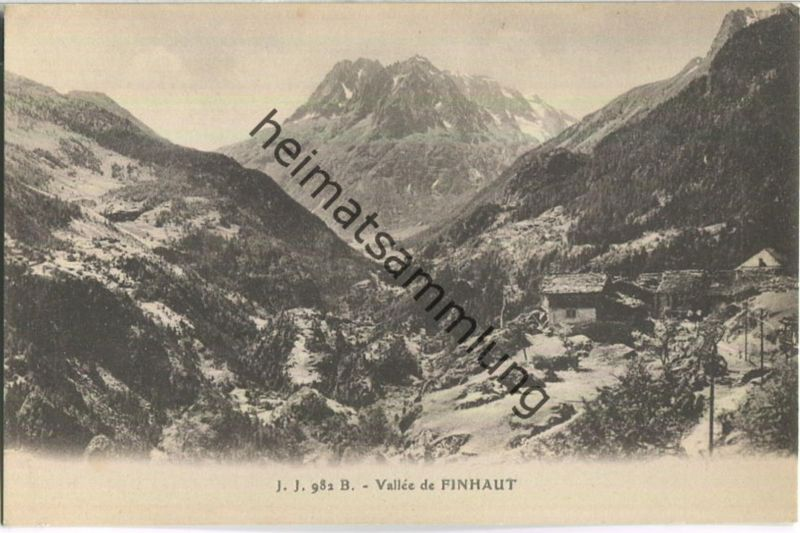 Vallee de Finhaut - Edition Jullien freres Geneve