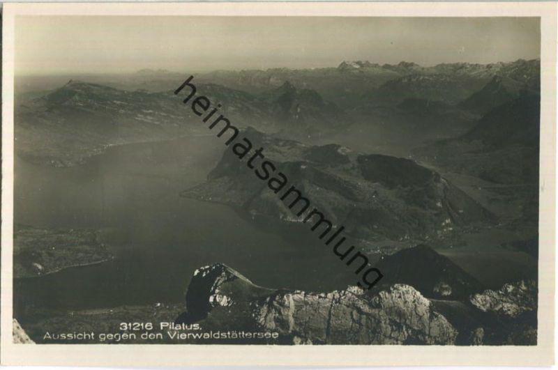 Pilatus - Aussicht gegen den Vierwaldstättersee - Foto-Ansichtskarte - Wehrli-Verlag Kilchberg