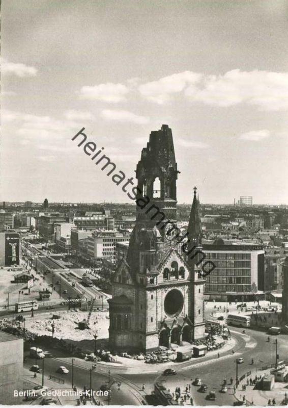 Berlin - Kaiser Wilhelm Gedächtniskirche - Foto-AK Grossformat