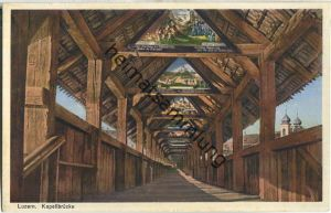 Luzern - Kapellbrücke - Verlag Globetrotter AG Luzern