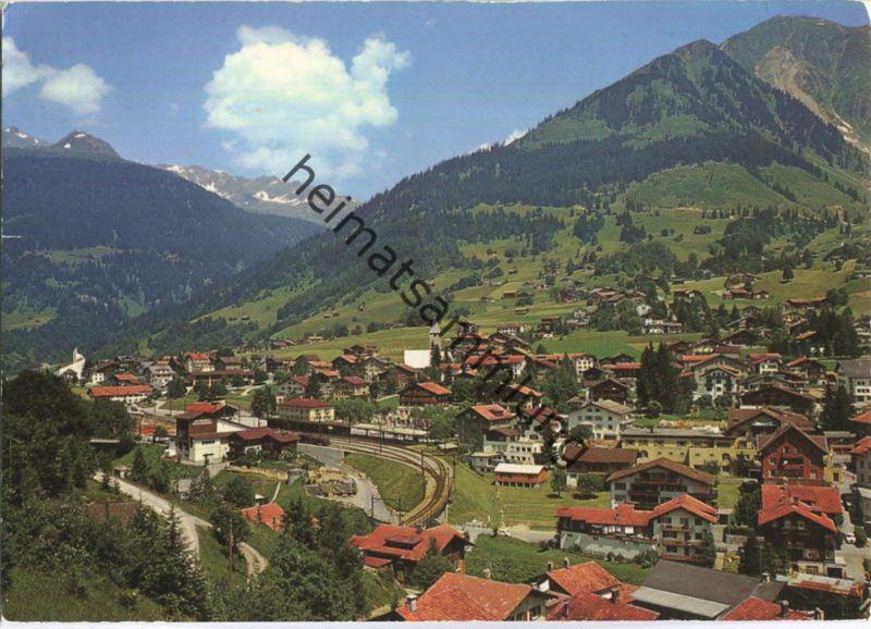 Klosters Dorf - Blick gegen Pischahorn - Verlag Photoglob-Wehrli AG Zürich