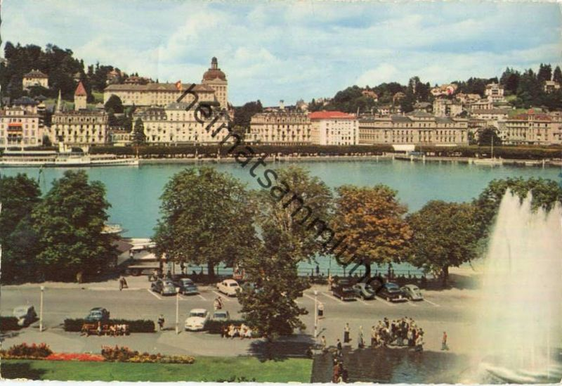 Luzern - See und Quai vom Bahnhof aus - Verlag Engelberger Stans gel. 1962