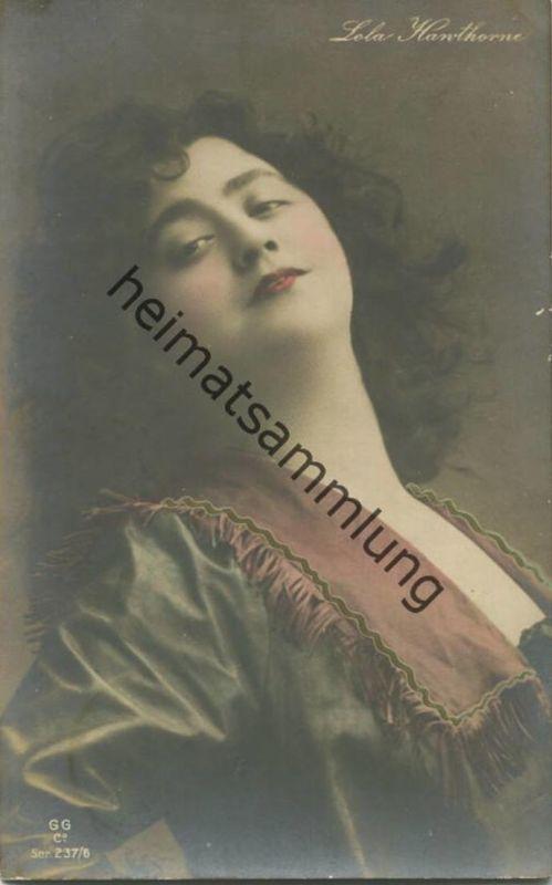 Lola Hawthorne - coloriert - Verlagssignum GG Co. 237/6 gel. 1906