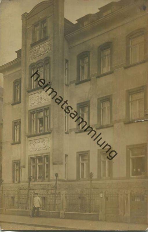 Leipzig-Gohlis - Pölitzstraße 10 - Foto-AK gel. 1912