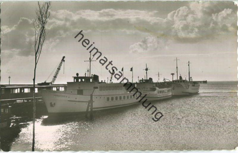 Nordseebad Langeoog - Hafen - Foto-Ansichtskarte - Verlag Foto-Hoepp Langeoog