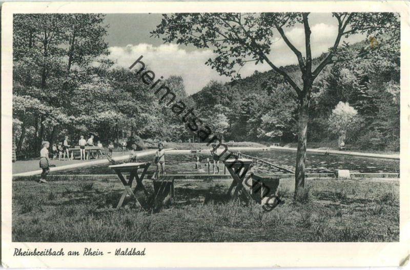 Rheinbreitbach - Waldbad - Foto-Ansichtskarte - Verlag Schöning & Co. Lübeck