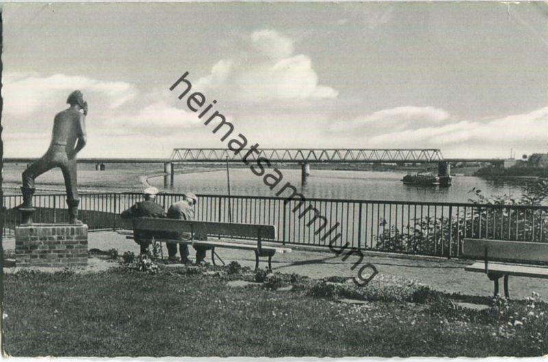 Lauenburg an der Elbe - Hol über (Schifferdenkmal) - Foto-Ansichtskarte - Verlag Ernst Herold Lübeck
