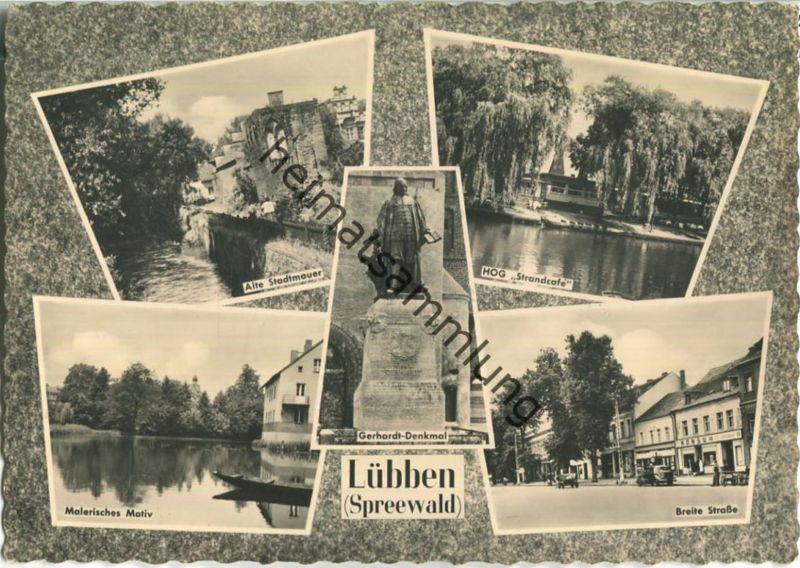 Lübben Spreewald - Breite Straße - Verlag VEB Bild und Heimat Reichenbach