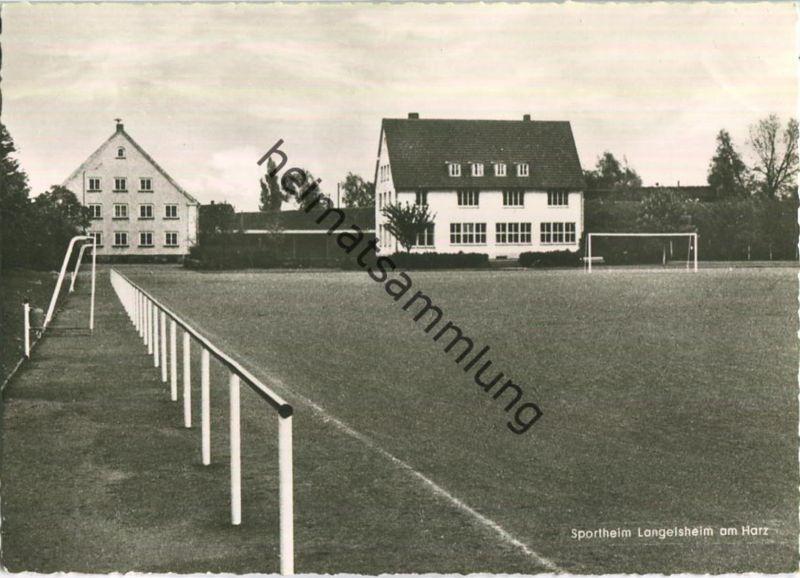 Langelsheim - Sportheim - Foto-Ansichtskarte - Verlag Kurt Lorenz Goslar