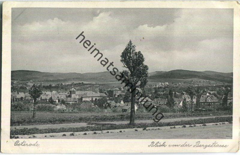 Osterode - Blick von der Bergstraße - Verlag Carl Friedrich Fangmeier Bad Harzburg