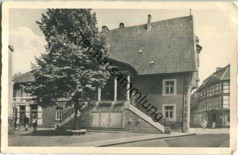 Osterode - Rathaus - Foto-Ansichtskarte - Verlag Schöning & Co. Lübeck