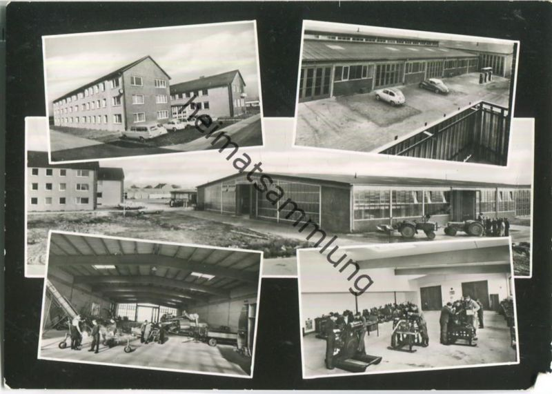 Nienburg - DEULA Schule - Traktor - Foto-Ansichtskarte - Verlag Foto-Boediger Wunstorf