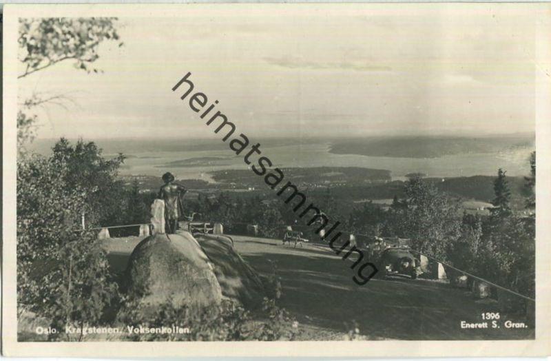 Oslo - Kragstenen - Voksenkollen - Foto-Ansichtskarte - Enerett S. Gran 40er Jahre