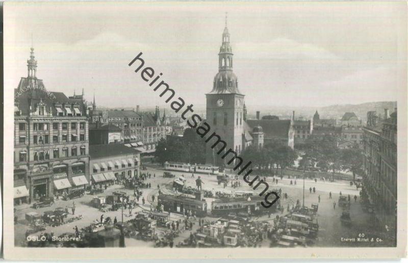 Oslo - Stortorvet - Foto-AK 40er Jahre - Enerett Mittet & Co.